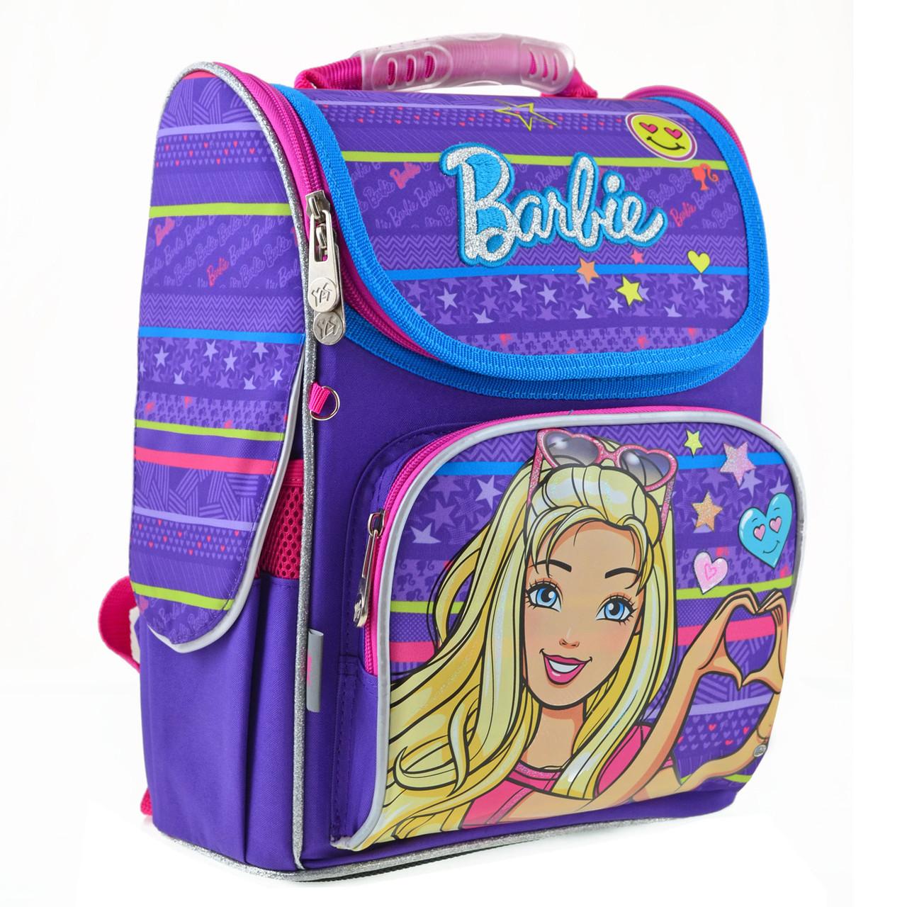 Рюкзак школьный каркасный YES H-11 Barbie, 33.5*26*13.5 555154