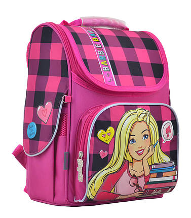 Рюкзак школьный каркасный 1 Вересня H-11 Barbie red, 33.5*26*13.5 555156, фото 2