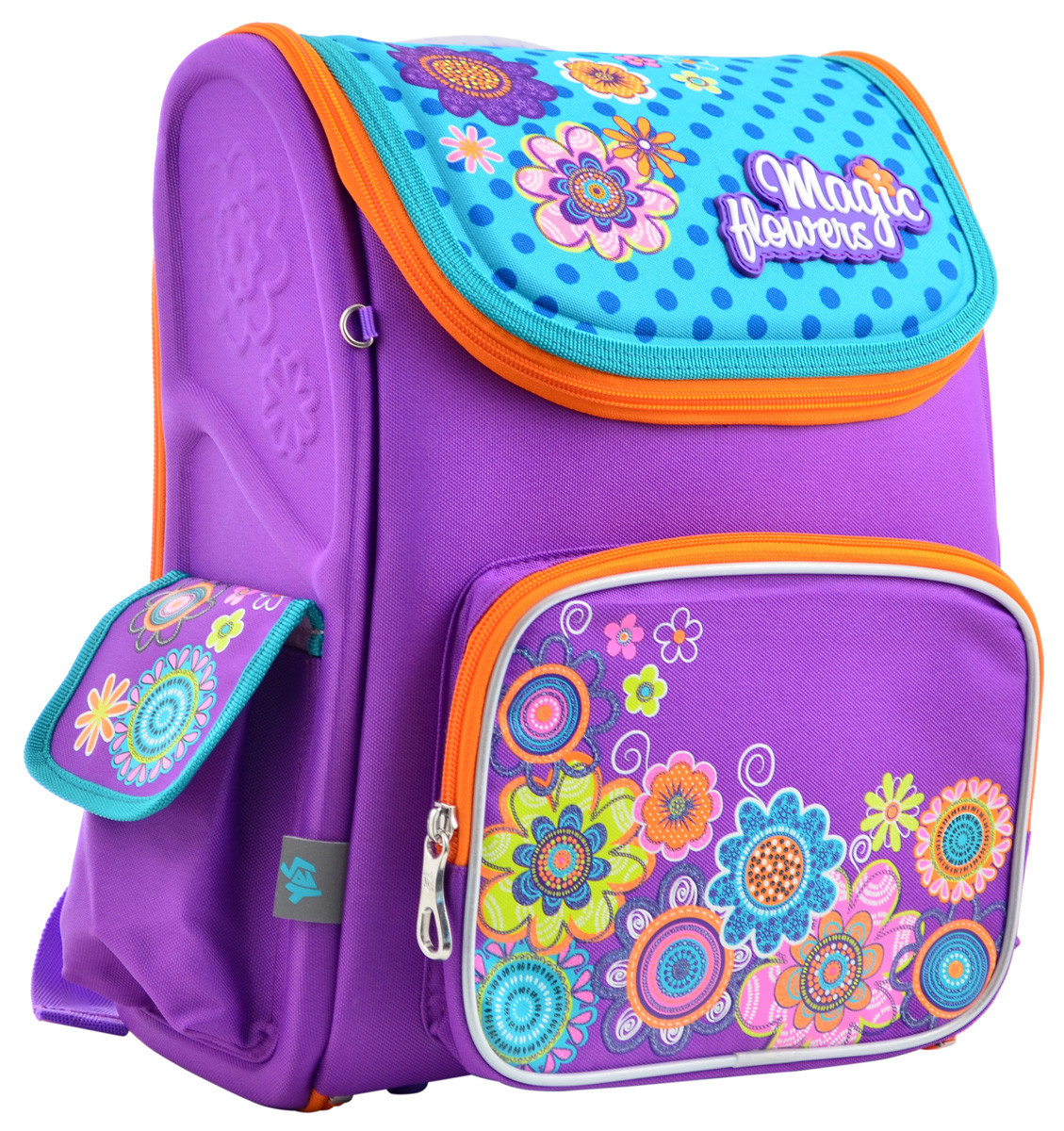 Рюкзак школьный каркасный YES H-17 Flowers, 34.5*28*13.5 555102