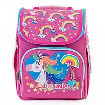 Рюкзак школьный каркасный YES H-11 Unicorn blue, 33.5*26*13.5 555196, фото 2