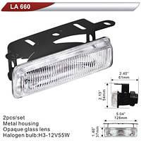 Фара дополнительная  DLAA  660-W/H3-12V-55W/128*37mm (LA 660-W)