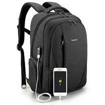 """РЮКЗАК МІСЬКИЙ TIGERNU Т-В3399 USB BLACK GREY 15.6"""", фото 3"""