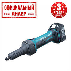 Аккумуляторная прямая шлифмашина Makita DGD 800 RFE (18В, 3Ач)