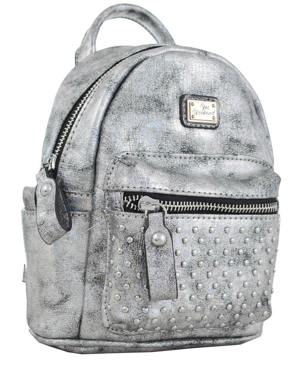 Сумка-рюкзак YES, темно-серый , 17*20*8см 553229