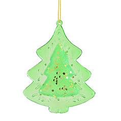 Игрушка новогодняя Ель, зеленая d-10 см. YES! Fun 972832