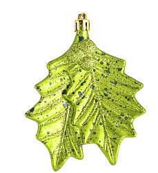 Игрушка новогодняя Зеленые листья d-10 см YES! Fun 972914
