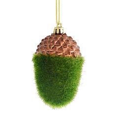 Игрушка новогодняя Зеленый желудь d-9 см YES! Fun 972908