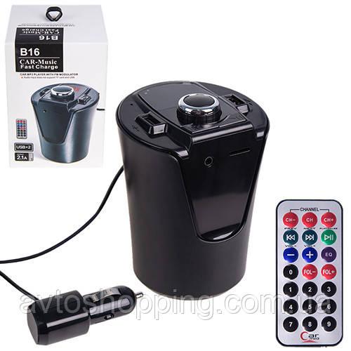 Модулятор FM 5в1 B16 12-24v Bluetooth (В16)