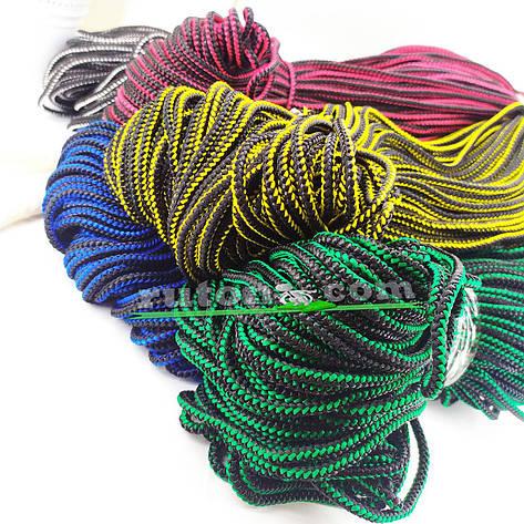 Цветная рыбацкая плетеная веревка 4 мм 100 м, фото 2