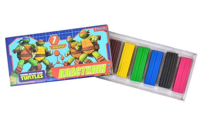 Пластилин 7 цв. Ninja Turtles 1 Вересня 540419, фото 2