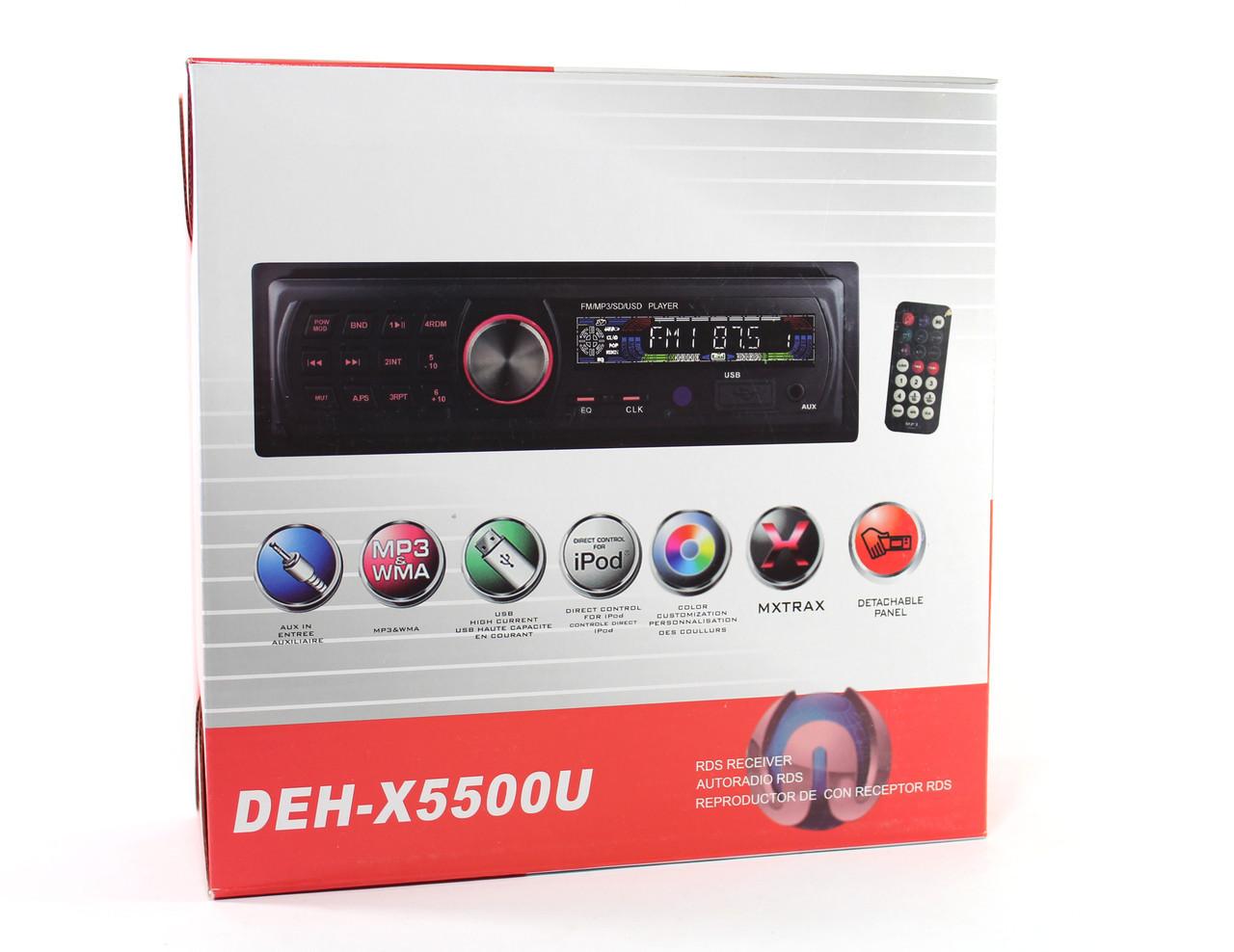 Автомагнитола MP3 DEH X 5500U с Евро Разъемом +Пульт ДУ
