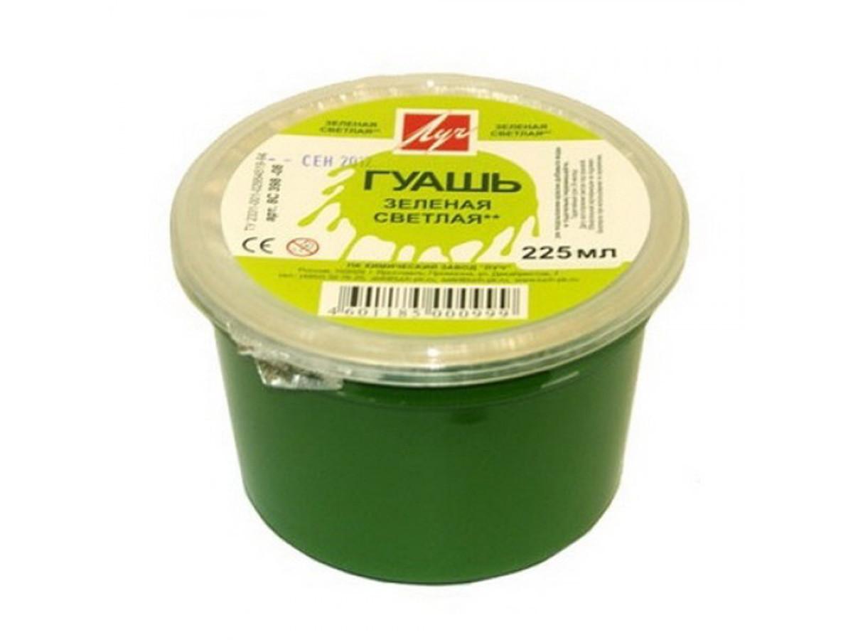 Гуашь зеленая светлая 225 мл 0.28 кг 8С398-08 230017