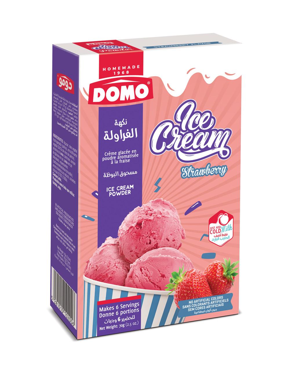 Сухое домашнее мороженное вкус клубника 6 порций