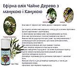 Ефірна олія Чайне Дерево з манукою і канукою, натуральна, Швейцарія / Tea Tree manuka kanuka, фото 3