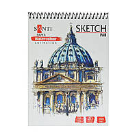 Альбом для акварели SANTI Travelling, А5, Paper Watercolour Collection, 20л, 200г/м2 742606