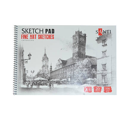 "Альбом для графики SANTI, А4, ""Fine art sketches"", 20 л. 190 г/м2 742620, фото 2"