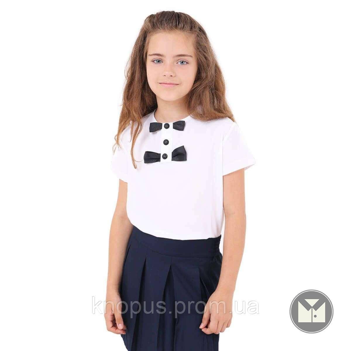Блуза  белая с коротким рукавом (B034058), Тимбо