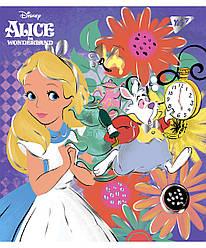 Зошит для записів А5/18 кл. YES Alice in wonderland фольга золото+софт-тач 763252