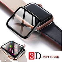 Защитная 3D-пленка с изогнутыми краями для Apple Watch 38mm,40mm,42mm,44mm(black)