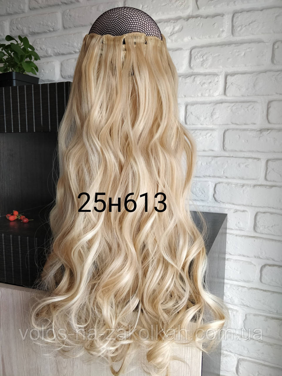 Волосы на заколках волнистые кудрявые мелировка