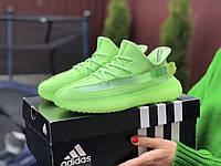 Жіночі кросівки Adidas Yeezy Boost 350 салатові - жіночі кросівки Адідас ізі буст 350