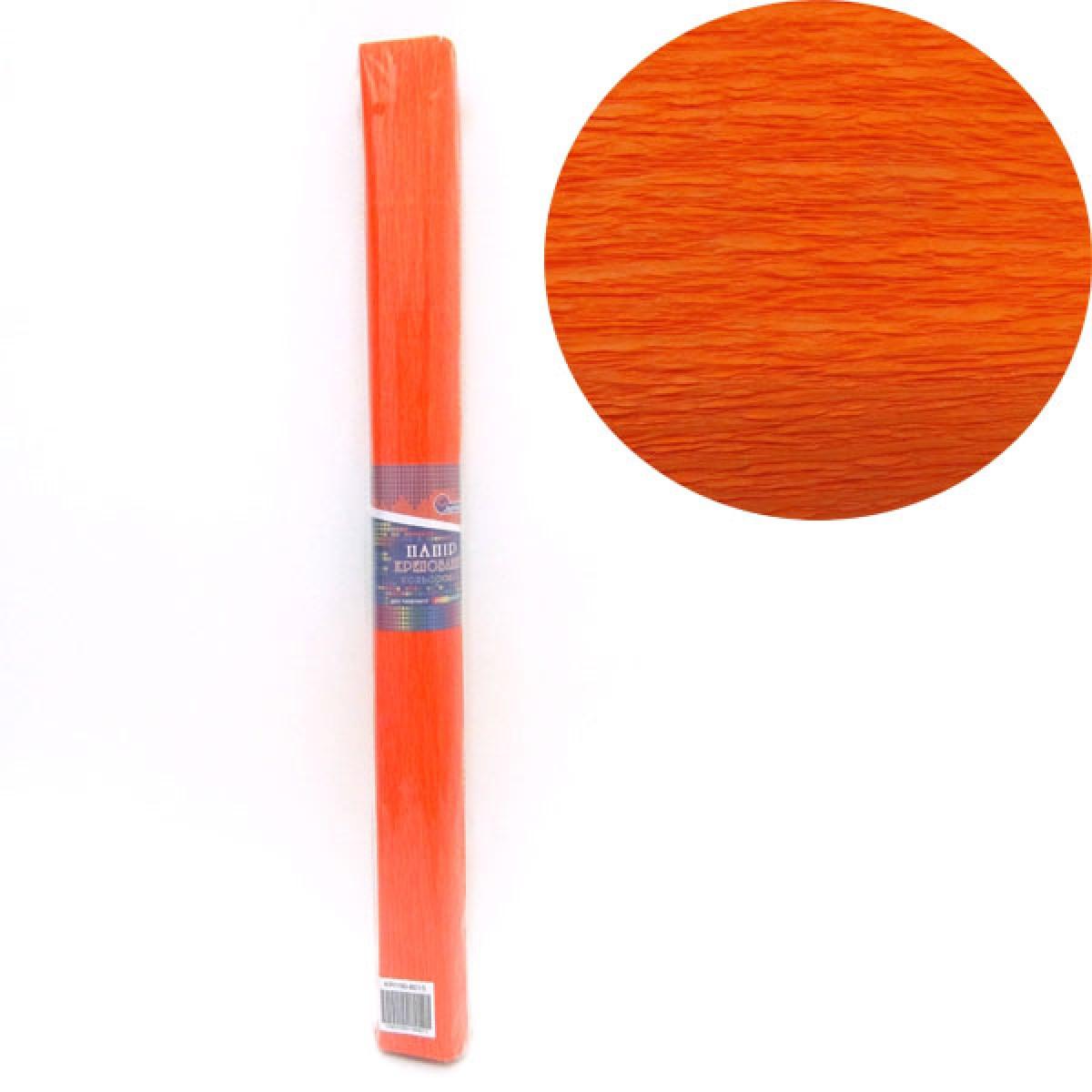 Креп-бумага 150%, оранжевый 50*200см, 1pc/OPP, осн.95г/м2, общ.238г/м2