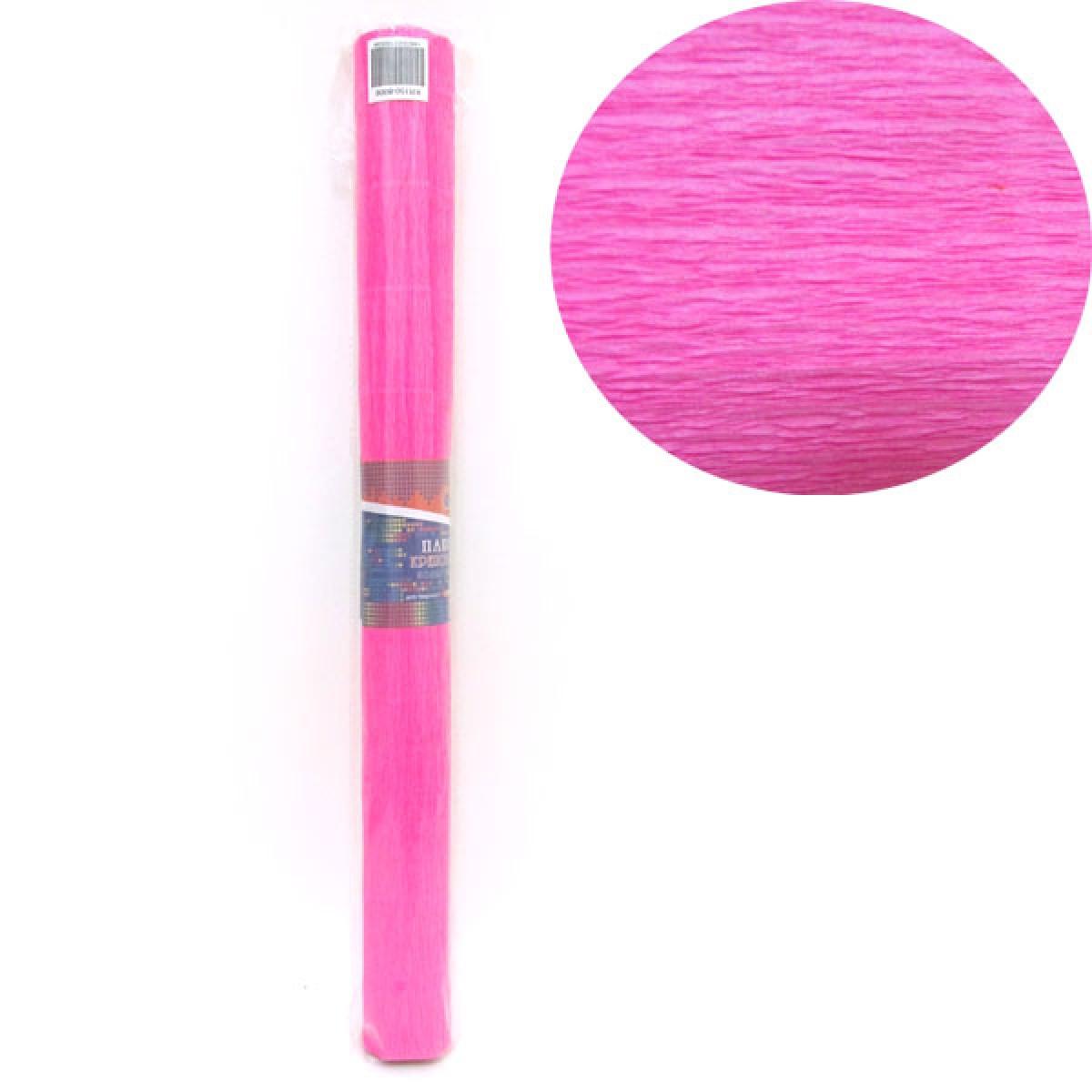 Креп-бумага 150%, ярко-розовый 50*200см, 1pc/OPP, осн.95г/м2, общ.238г/м2