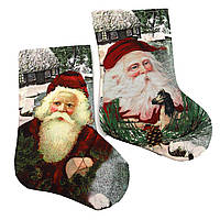 "Носок новогодний ""Дед Мороз"" 27*18см, mix, 1шт/этик."