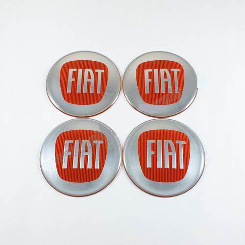 Наклейки для ковпачків Fiat червоні (65 мм)
