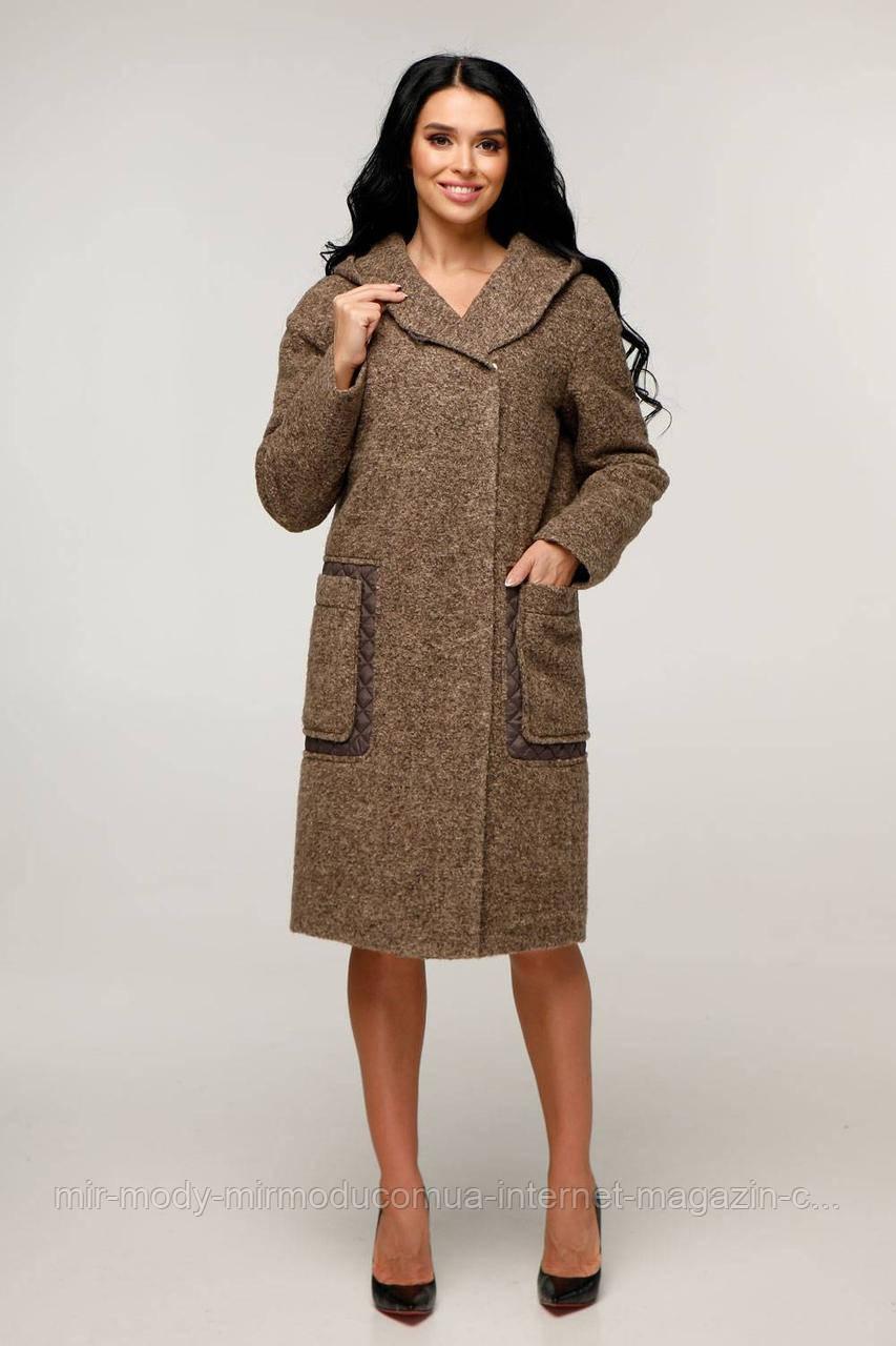Пальто женское демисезонное В-1248 шерсть Тон 1018 с 44 по 54 размер(фт)