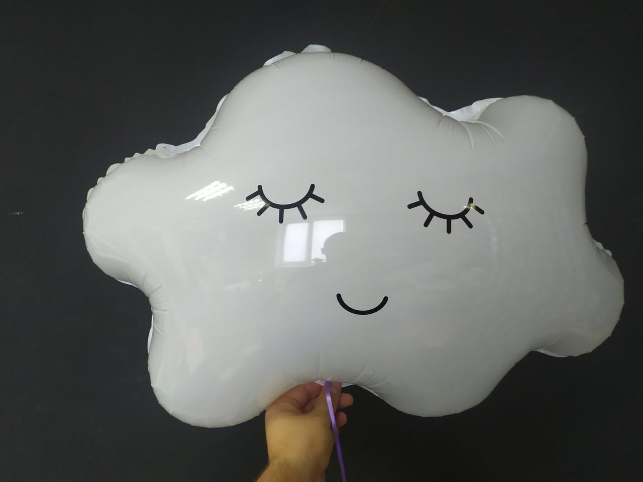 Кулька з плівки велика фігура Хмаринка біла 76*60см Китай