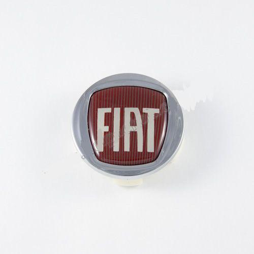 Колпачок в легкосплавные диски Fiat хром/красный лого (60 мм)