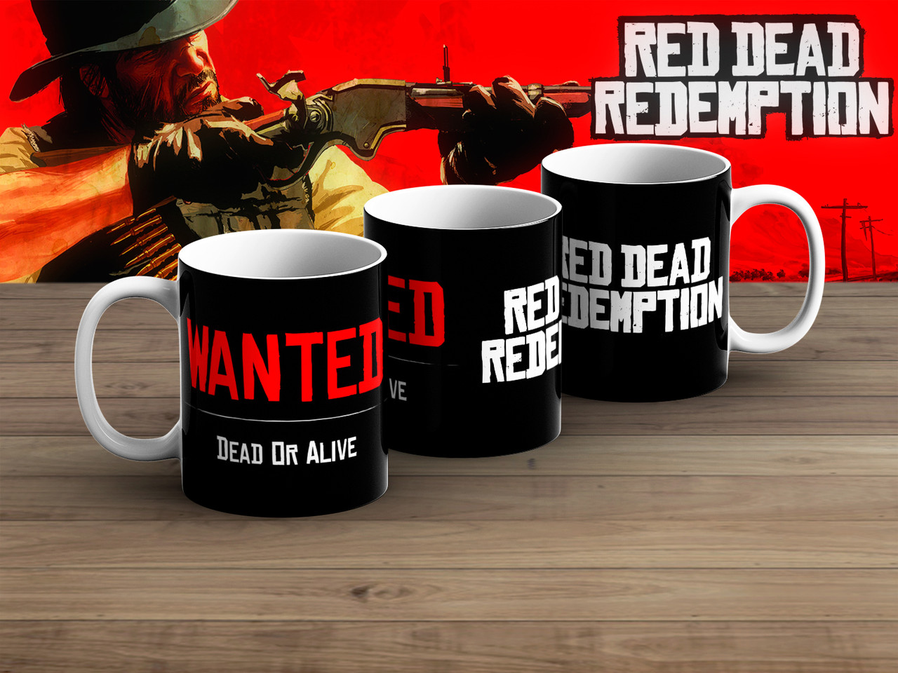 """Кружка Red Dead Redemption """"Dead or Alive"""""""