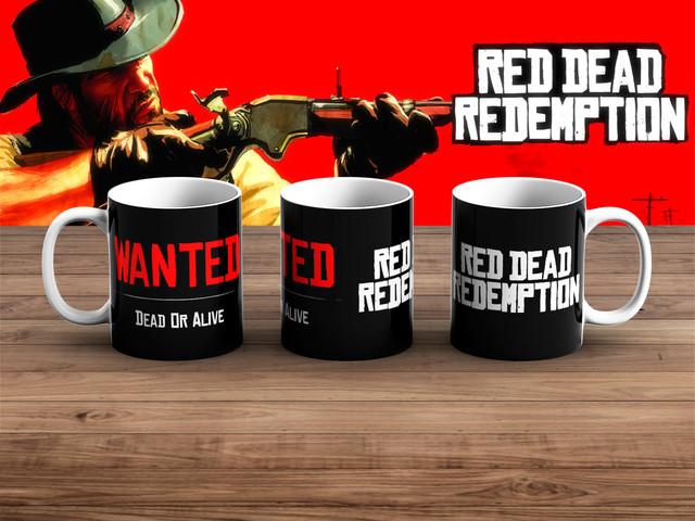 """Кружка Red Dead Redemption """"Dead or Alive"""" товары из игр"""