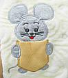 Комплект для новорожденных 4-х предметный, махра, фото 4