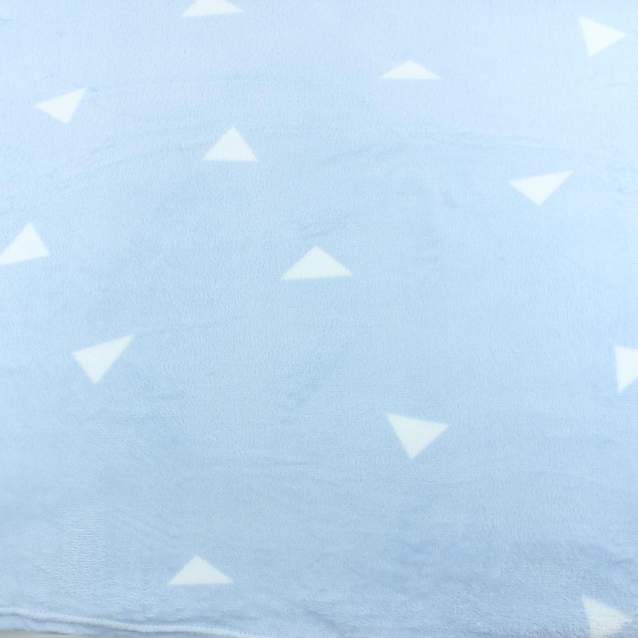 Плед красивий блакитний з поліестеру Soft Comfort, плед м'який тонкий