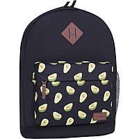 Рюкзак женский городской молодежный Bagland для девушки черный авокадо 17 л.