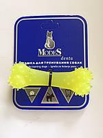 Іграшка Модес Дента ModeS Denta кістка для собак жовта XS 8 см