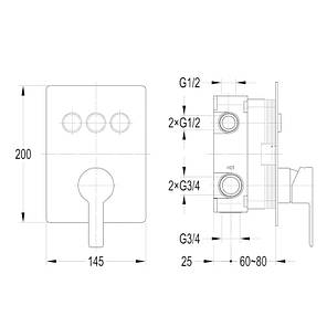 Змішувач для душу IMPRESE SMART CLICK ZMK101901202, фото 2