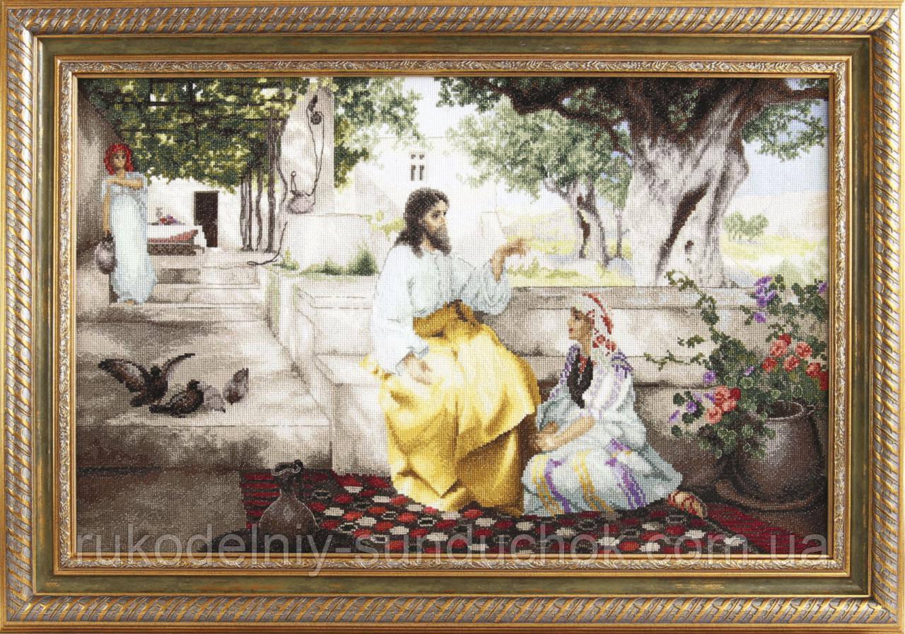 """Набор для вышивки крестиком Чарівна Мить М-314 По мотивам Г.И. Семирадского """"Христос у Марфы и Марии"""""""