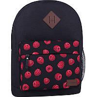 Рюкзак жіночий міський молодіжний Bagland для дівчини чорний малина 17 л.