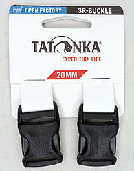 Застёжка-фастекс 20мм для ремней (2 шт.) Tatonka SR-Buckle чёрная