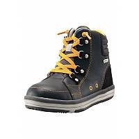 Темно-коричневые ботинки демисезонные унисекс Reimatec Weather размеры 30;31;32;33;34;35;36;37;38 весна;осень;зима мальчик;девочка TM Reima