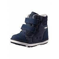 Темно-голубые ботинки для мальчика Reimatec Patter Wash размеры 23;24;28;30 весна;осень;зима;деми мальчик TM Reima 569344.8-6740