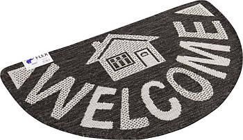 Придверный коврик на резиновой основе Hali Добро Пожаловать 50х80см Разнцветный (6852)