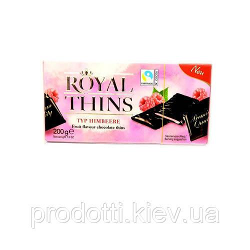 Шоколадні пластини Royal Thins з Малиною і м'ятою , 200 g