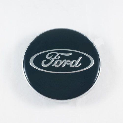 Колпачок в легкосплавные диски Ford синий/хром лого 1329570 (69 мм)