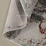 Модный современный ковер с красным, голубым, серым и белым цветом, фото 5