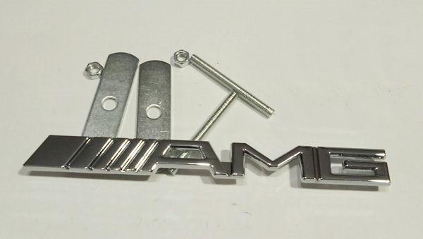 Шильдик AMG на решітку радіатора silver