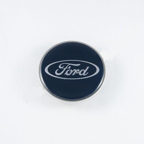 Колпачок в легкосплавные диски Ford синий/хром лого 7M591A065LA (62 мм)